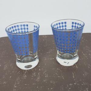 Set of 2 Vintage Juice Glasses Small